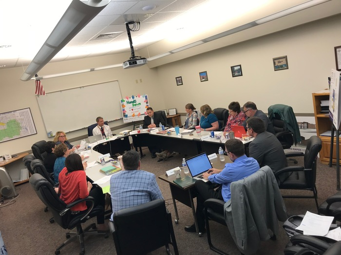 Our District Leadership Team of Administrators and Teachers met today with our Accreditation Team (OVT).