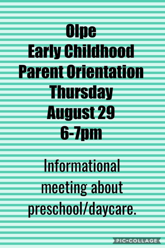 Olpe Early Childhood Parent Orientation