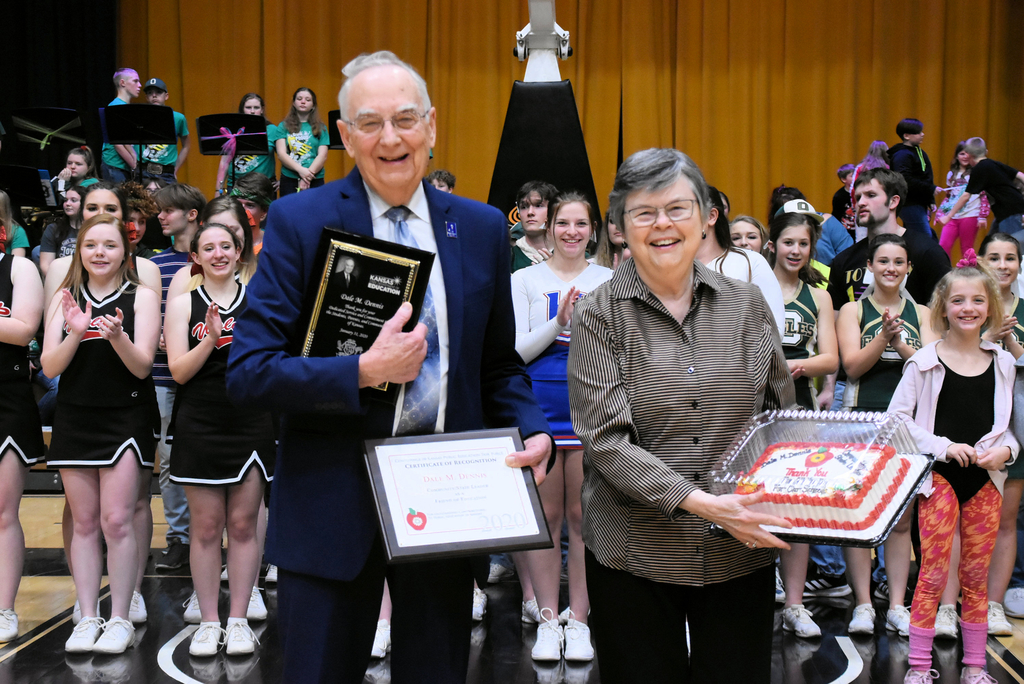 Thank you Mr. and Mrs. Dale Dennis for your continued years of service to the students of Kansas!