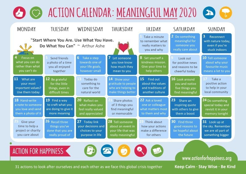 May Coping Calendar