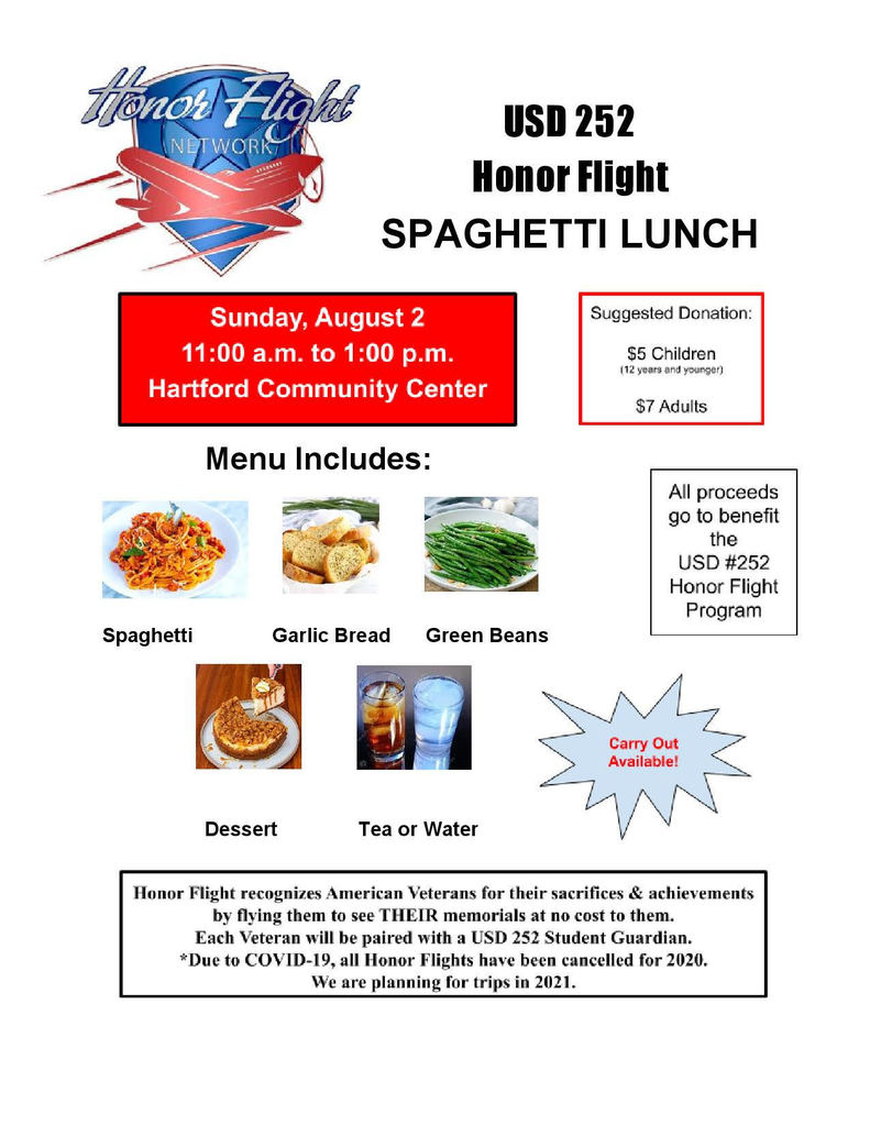 honor flight lunch
